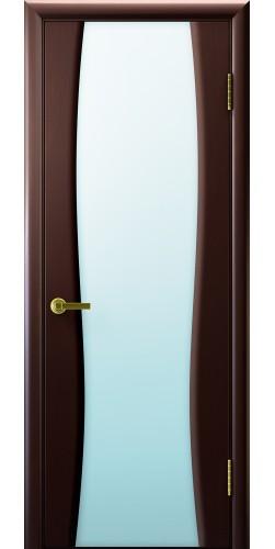 Межкомнатная дверь шпонированная со стеклом Диадема 2 венге