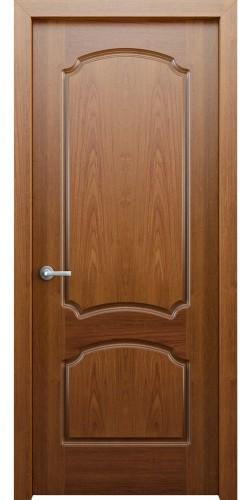 Межкомнатная дверь шпонированная Фламенко ПГ орех