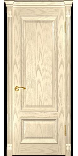 Дверь межкомнатная шпонированная глухая Фараон 1 дуб слоновая кость