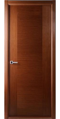 Дверь шпонированная глухая Классика орех