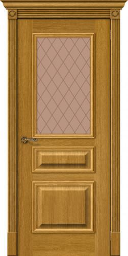 Дверь шпонированная со стеклом Вуд классик 15.1 цвет natur oak