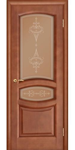Дверь межкомнатная шпонированная со стеклом Анастасия темный анегри