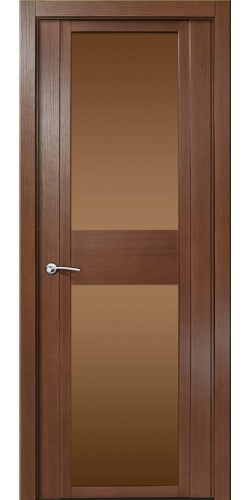 Дверь межкомнатная шпонированная QDO D со стеклом цвет дуб палисандр