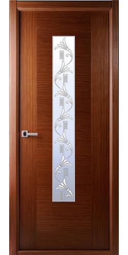 Дверь шпонированная со стеклом Классика орех