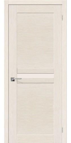 Межкомнатная дверь шпонированная со стеклом Евро 23 беленый дуб