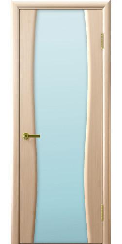 Дверь межкомнатная шпонированная со стеклом  Диадема 2 беленый дуб