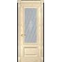 Межкомнатная дверь шпонированная со стеклом Фараон 1 слоновая кость