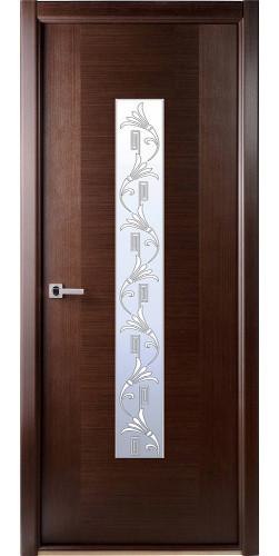 Межкомнатная дверь шпонированная со стеклом Классика венге