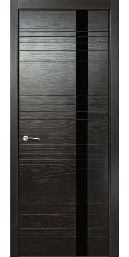 Дверь межкомнатная шпонированная ID H со стекло цвет неро