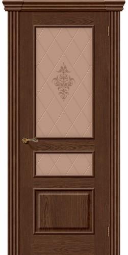 Межкомнатная дверь шпонированная со стеклом Сорренто виски