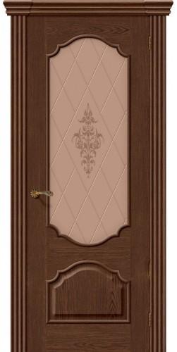 Межкомнатная дверь шпонированная со стеклом Париж виски