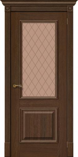 Межкомнатная дверь шпонированная со стеклом Вуд классик 13 golden oak