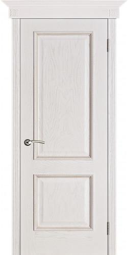 Дверь шпонированная глухая Шервуд цвет белая патина
