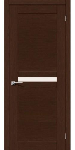 Межкомнатная дверь шпонированная со стеклом Евро 23 венге