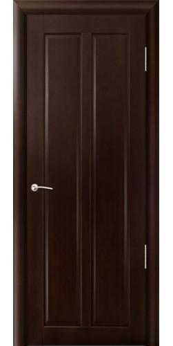 Межкомнатная дверь шпонированная Дана ПГ тёмный орех