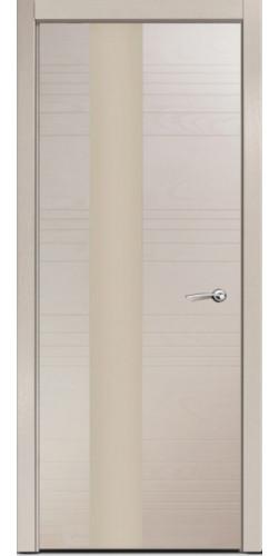 Дверь межкомнатная шпонированная ID HL со стеклом цвет капучино