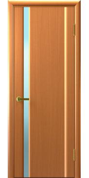 Межкомнатная дверь шпон Техно 1 светлый анегри со стеклом