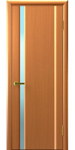 Дверь межкомнатная шпонированная со стеклом Техно 1 светлый анегри