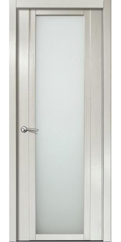 Дверь межкомнатная шпонированная QDO X со стеклом цвет ясень жемчуг