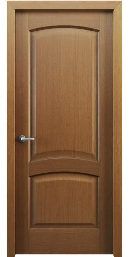 Дверь шпонированная глухая Классик 104 цвет орех