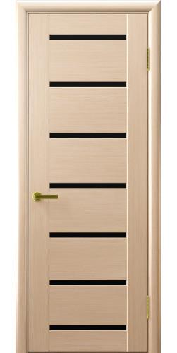 Межкомнатная дверь шпонированная со стеклом Нео 7 беленый дуб