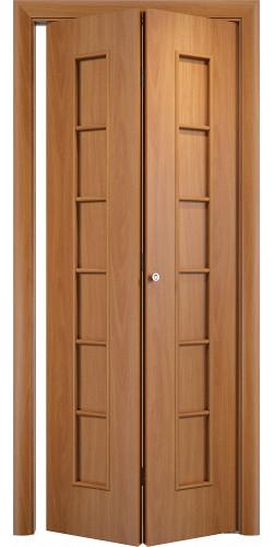 Межкомнатная дверь 3D Лесенка ПГ ск миланский орех