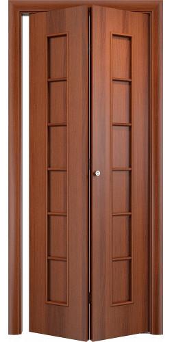 Межкомнатная дверь 3D Лесенка ПГ ск итальянский орех