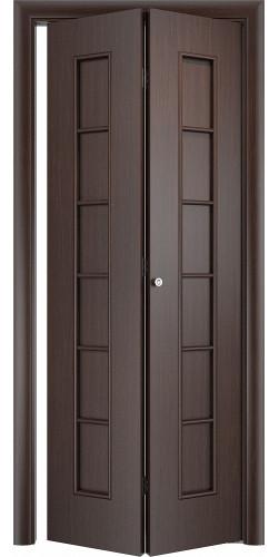 Межкомнатная дверь 3D Лесенка ПГ ск венге