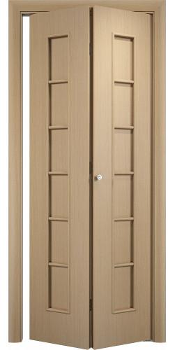 Межкомнатная дверь 3D Лесенка ПГ ск беленый дуб