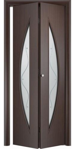 Межкомнатная дверь 3D со стеклом Парус ск венге