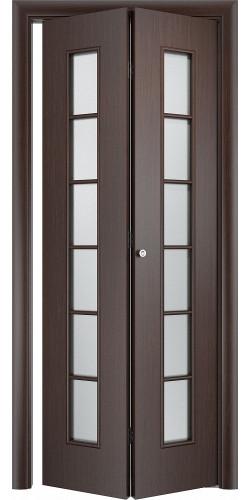 Межкомнатная дверь 3D со стеклом Лесенка ск венге