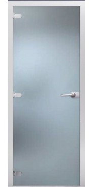 Стеклянная дверь 03 Матовое бесцветное