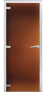 Стеклянная дверь 04 Матовое бронза