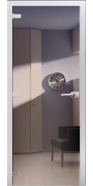 Стеклянная дверь 05 Зеркальное бронза
