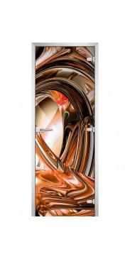 Стеклянная дверь Abstraction-14