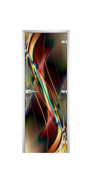 Стеклянная дверь Abstraction-15