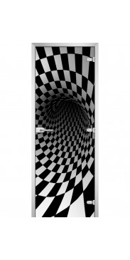 Стеклянная дверь Abstraction-08