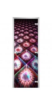 Стеклянная дверь Abstraction-09