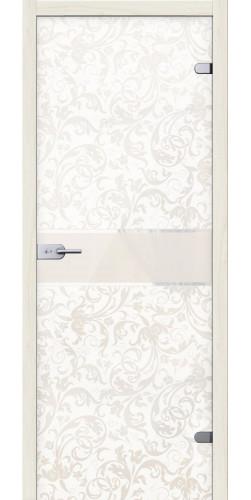 Стеклянная дверь Флори белое сатинато