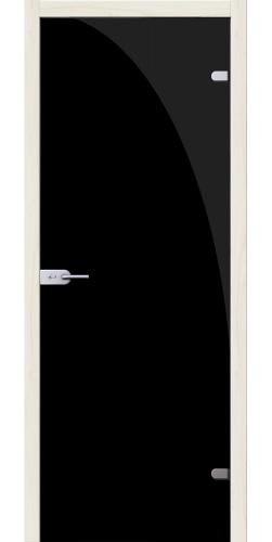 Стеклянная дверь Лайт чёрный жемчуг