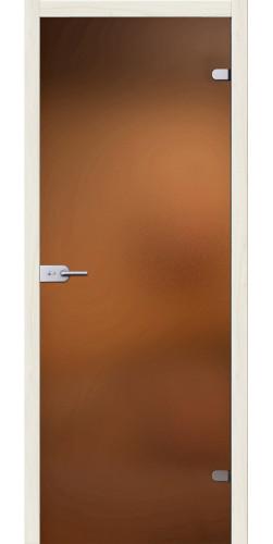Стеклянная дверь Лайт бронзовое сатинато