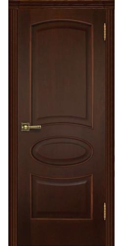 Межкомнатная дверь шпонированная Оливия ПГ орех