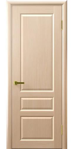 Дверь межкомнатная шпонированная глухая Валентия 2 беленый дуб