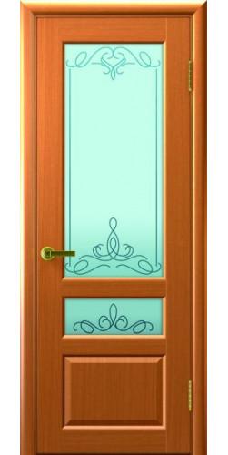Межкомнатная дверь шпонированная со стеклом Валентия 2 Светлый Анегри Т34