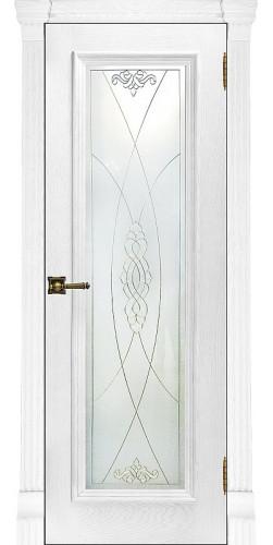 Межкомнатная дверь шпонированная со стеклом Тоскана перла