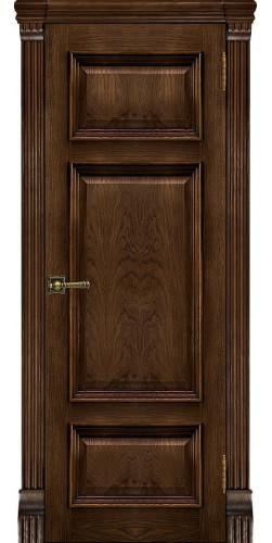 Дверь межкомнатная шпонированная Мадрид глухая цвет брэнди