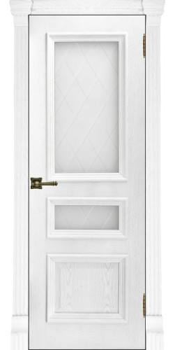 Межкомнатная дверь шпонированная со стеклом Барселона Перла