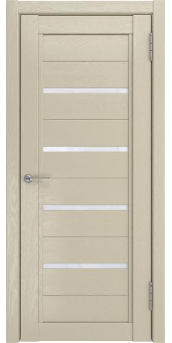 Дверь межкомнатная экошпон Soft-touch со стеклом LH-4 капучино