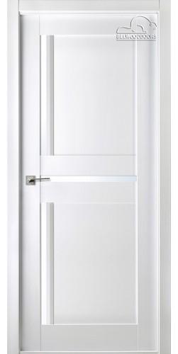 Межкомнатная дверь шпонированная со стеклом Матрикс 02 белый