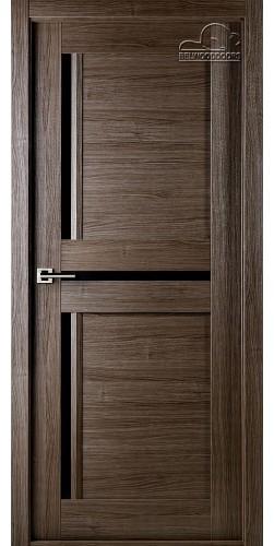 Межкомнатная дверь шпонированная со стеклом Матрикс 02 дуб серый